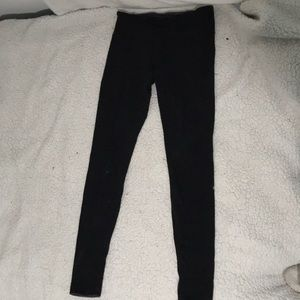 Lululemon, double layered black and gray tights